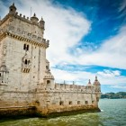 Belem tower on Tagus river, Belem, Lisbon, Portugal-1400