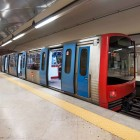 LISBON, PORTUGAL – JANUARY 4, 2014 Metro arriving-1400