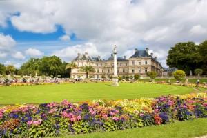 The beautiful view of the Luxembourg Gardens in Paris, France-1600