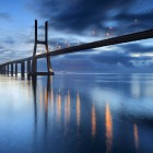 The Vasco da Gama Bridge crosses the Tagus River, and is one of the longest bridges in the world-1400