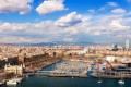 birdview Port Vell of Barcelona in sunny day-600