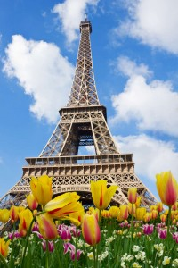 EiffelTower in spring sunny day in Paris, France-1600
