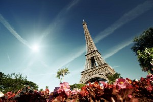 sunny morning and Eiffel Tower, Paris, France-1600